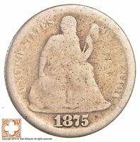 1875 SEATED LIBERTY SILVER DIME 2778