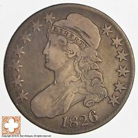 1826 CAPPED BUSTED HALF DOLLAR 8392
