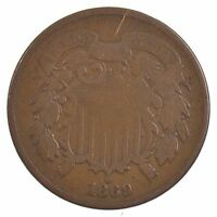 1869 TWO-CENT PIECE J85