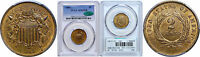 1866 TWO CENT PIECE PCGS MINT STATE 65 RB CAC