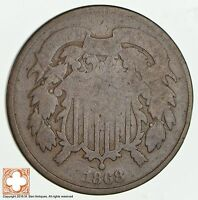1868 TWO CENT PIECE 1850