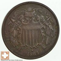 1865 TWO CENT PIECE 1844