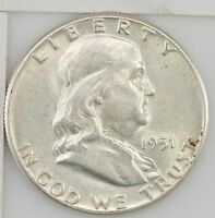 1951 FRANKLIN HALF DOLLAR Z94