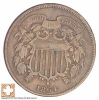 1864 TWO CENT PIECE XB42