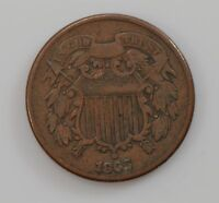 1865 TWO-CENT PIECE Q11