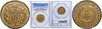 1869 TWO CENT PIECE PCGS MINT STATE 65 RB
