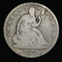 1877 CC SEATED LIBERTY HALF DOLLAR CHOICE G  E213 TNP