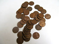 1953 D CIRCULATED LINCOLN WHEAT CENT CENT ROLL 50 COIN & TUB