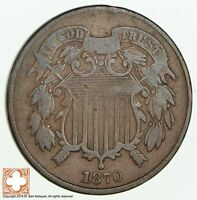 1870 TWO CENT PIECE 1845