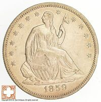 1859 SEATED LIBERTY HALF DOLLAR 0621