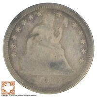 1873 SEATED LIBERTY SILVER QUARTER XB88