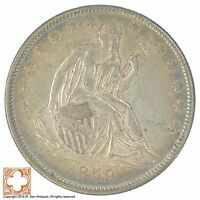 1859 SEATED LIBERTY SILVER HALF DOLLAR SB45
