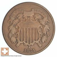 1871 TWO CENT PIECE SB45