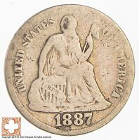 1887 SEATED LIBERTY SILVER DIME 2952