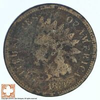 1873 INDIAN HEAD CENT XB73