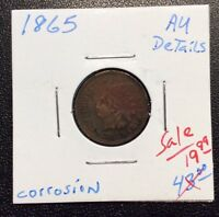 1865 INDIANHEAD CENT FANCY CURVED 5