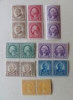 US OLD STAMPS - PRESIDENTIAL SERIES - SET OF 8 COIL STRIPS OF 2 - 1920S MINT NH