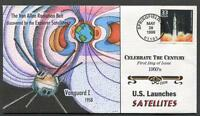 US LAUNCHES SATELLITES - CELEBRATE THE CENTURY 1950S FD COLLINS COVER  SC 3187D