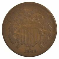 1869 TWO-CENT PIECE J97