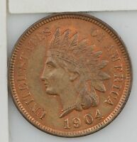 1904 INDIAN HEAD ONE CENT 603
