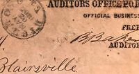 TURNED COVER DIETZ LISTED SIGNED CONFEDERATE AUDITOR FREE FRANK CSA 4 STAMP