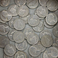 1957 D JEFFERSON NICKEL ROLL 40 CIRCULATED US COINS