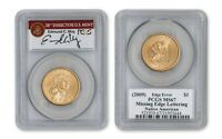 2009 $1 SACAGAWEA MISSING EDGE LETTERING PCGS MS67   MOY SIGNED