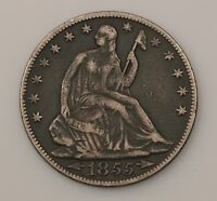 1855 O SEATED LIBERTY SILVER HALF DOLLAR G05