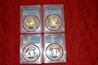 4   GRADED QUARTER COIN LOT   PCGS PR69 DCAM YEAR RANGE: 1973 1981 K096 699