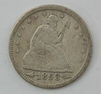 1853 SEATED LIBERTY QUARTER DOLLAR ARROWS & RAYS Q85