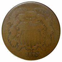 1870 2 CENT - TOUGHER DATE -