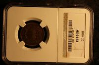 1870 2 CENT NGC MINT STATE 64 RB  KEY DATE