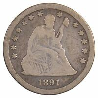 1891 SEATED LIBERTY QUARTER DOLLAR J72
