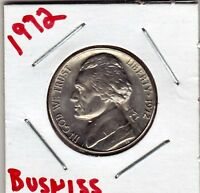 1972 JEFFERSON NICKEL IN BU CONDITION  BUSINESS STRIKE  STK 1