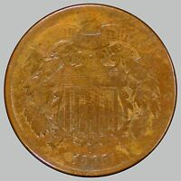 1866 SHIELD TWO CENTS