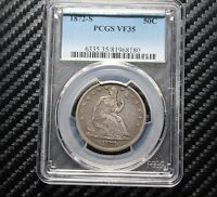 1872 S SEATED LIBERTY HALF DOLLAR PCGS VF35