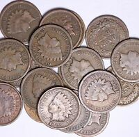 ROLL OF 50 COINS MIXED ALL FROM 1800'S INDIAN HEAD CENTS SOLID GOOD FREE P/H