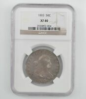 1803 DRAPED BUST HALF DOLLAR, HERALDIC EAGLE REVERSE- NGC EXTRA FINE 40 A67