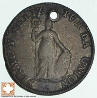 1826 PERU 8 REALES CONDITION: HOLE 0921
