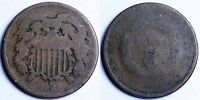 1864  TWO CENT PIECE - INVERTED/ROTATED REVERSE
