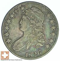 1826 CAPPED BUSTED HALF DOLLAR XB85