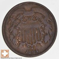 1864 TWO CENT PIECE 1712