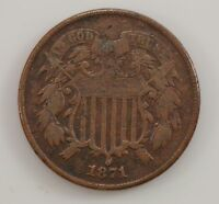 1871 TWO-CENT PIECE G26