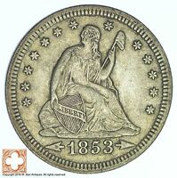 1853 SEATED LIBERTY SILVER QUARTER 613