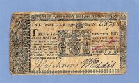 1774 MARYLAND $1 COLONIAL CURRENCY AFFORDABLE SHARP SIGNATURES FINE GRADE