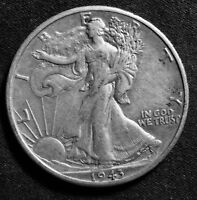 1943-D WALKING LIBERTY HALF SILVER VF-EXTRA FINE ? LOOK AND JUDGE