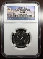 2013 D MOUNT RUSHMORE ATB QUARTER NGC MS 67 BUY 3 GET $5 OFF R6427