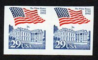 2609A 29 WHITE HOUSE FLAG IMPERF COIL PAIR MNH
