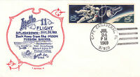 1969 APOLLO 11 SPLASHDOWN; ARTOPAGES CACHET; CC 7/24