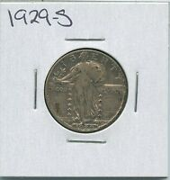 1929 S STANDING LIBERTY QUARTER US MINT SILVER COIN
